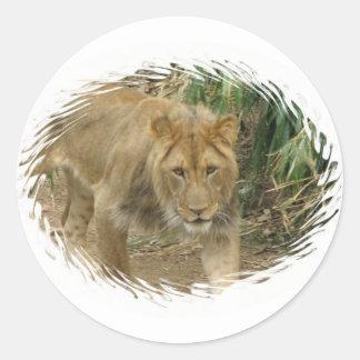 Leo el pegatina del león