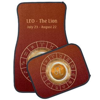 LEO - la muestra del zodiaco del león Alfombrilla De Coche