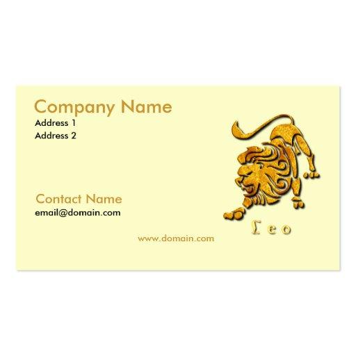 Leo la tarjeta de visita del león