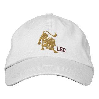 Leo zodiaco muestra bordado 23 de julio - 22 de gorra bordada