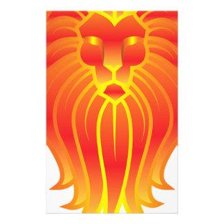 León adaptable del zodiaco de Leo del fuego Papelería De Diseño