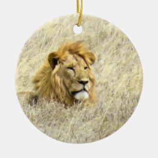 León africano ornamento de navidad