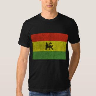 León apenado de la bandera de Judah Rasta Camisas