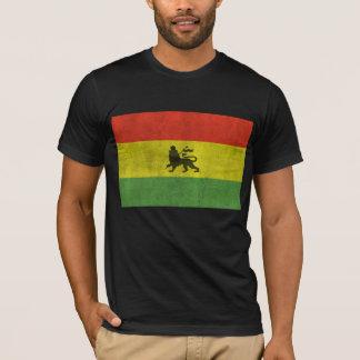 León apenado de la bandera de Judah Rasta Camiseta