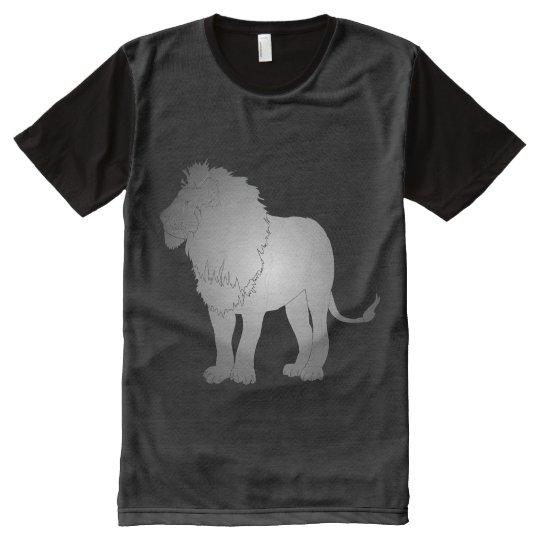 León Camiseta Con Estampado Integral