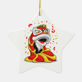 León chino del Año Nuevo Ornamento Para Arbol De Navidad