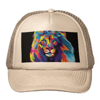 León colorido gorros