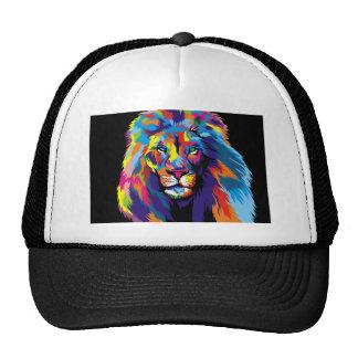 León colorido gorros bordados
