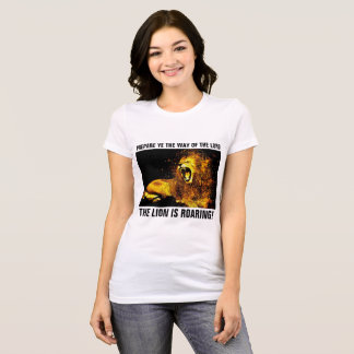 LEÓN de JESÚS de JUDAH QUE RUGE, camisetas