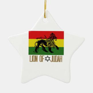 León de Judah Adorno Navideño De Cerámica En Forma De Estrella