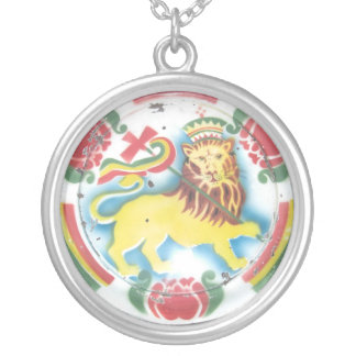 León de Judah Collar Plateado