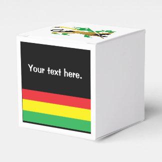 León de Judah, colores jamaicanos de la bandera Caja Para Regalos