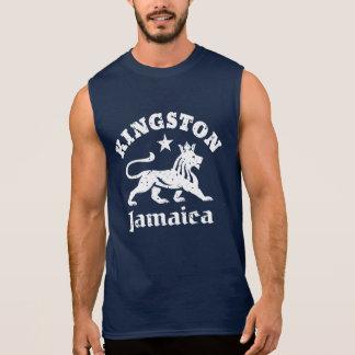 León de Kingston Jamaica Rastafari del vintage Playeras Sin Mangas