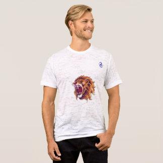 León de la camiseta de la quemadura