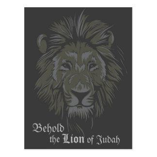 León de la postal del 5:5 de la revelación del