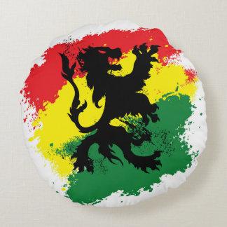 León de Rasta de la almohada redonda de Judah Cojín Redondo