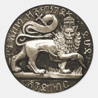 León de Rasta del diseño antiguo del pegatina de
