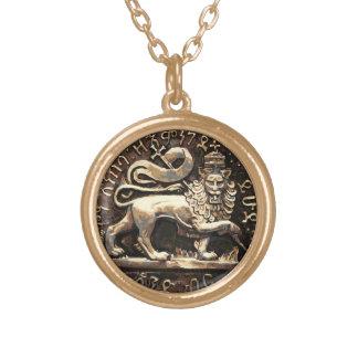León de Rasta del final pendiente del oro de Judah Collar Dorado