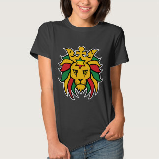 León de Rastafari de Judah Camisetas