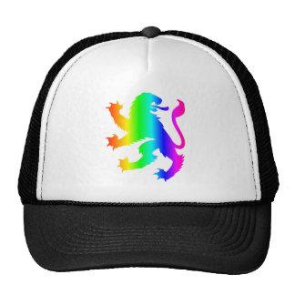 León del arco iris gorras