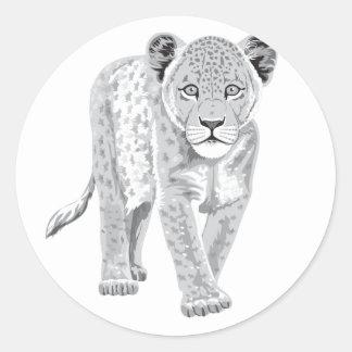 León del bebé etiqueta