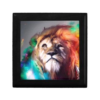 León del color de agua caja de recuerdo