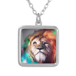 León del color de agua collares personalizados