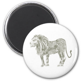León del grafito imán para frigorífico