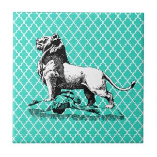 león del morrocco azulejo cuadrado pequeño
