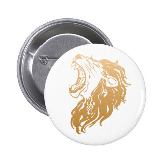 león del oro chapa redonda de 5 cm
