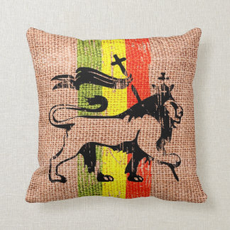 León del reggae cojín decorativo