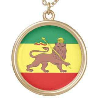 León del reggae de Rasta de Judah Collar Dorado