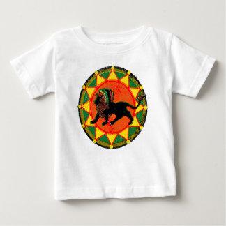León del reggae de Rasta del vintage Camiseta De Bebé