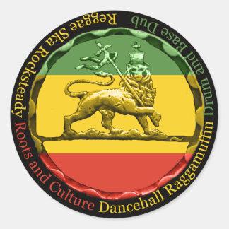 León del reggae de Rastagearshop del pegatina de