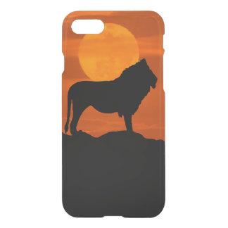 León en la puesta del sol funda para iPhone 7