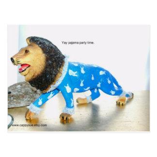 León en pijamas del conejito postal