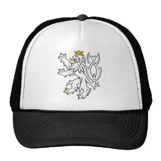 León heráldico bohemio gorra