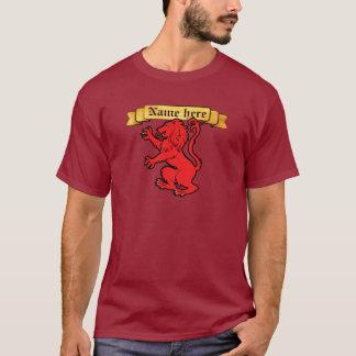 León heráldico estilizado camiseta
