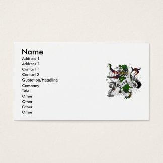 León joven del tartán tarjeta de negocios