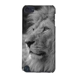 León negro y blanco - animal salvaje carcasa para iPod touch 5