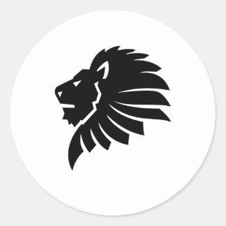 León Etiqueta Redonda