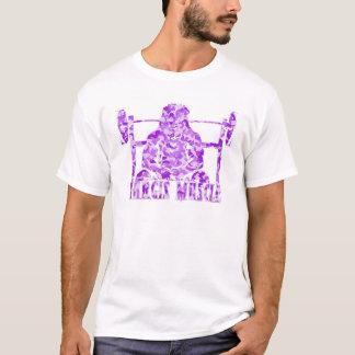 León púrpura de Camo del músculo de Hargis Camiseta