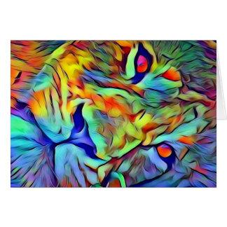 León ruidoso tarjeta de felicitación
