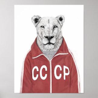 León soviético póster