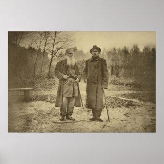 León Tolstói y la máxima Gorki del autor Póster