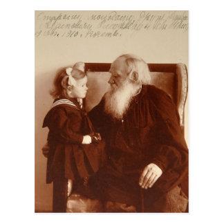 León Tolstoy con su nieta, Tatiana Postal