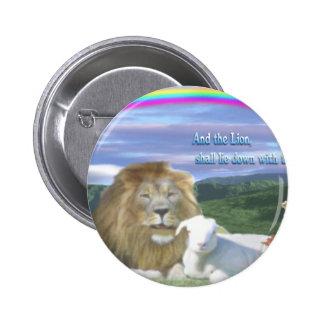 león y el cordero chapa redonda de 5 cm