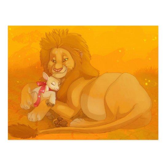 León y la postal del cordero