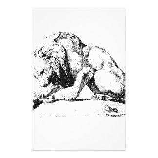 León y la serpiente  papeleria