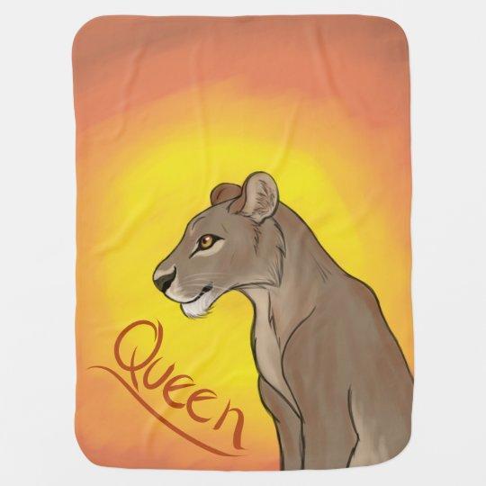 Leona de la reina mantita para bebé